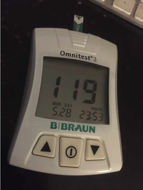 Braun Omnitest 3 blood sugar reading