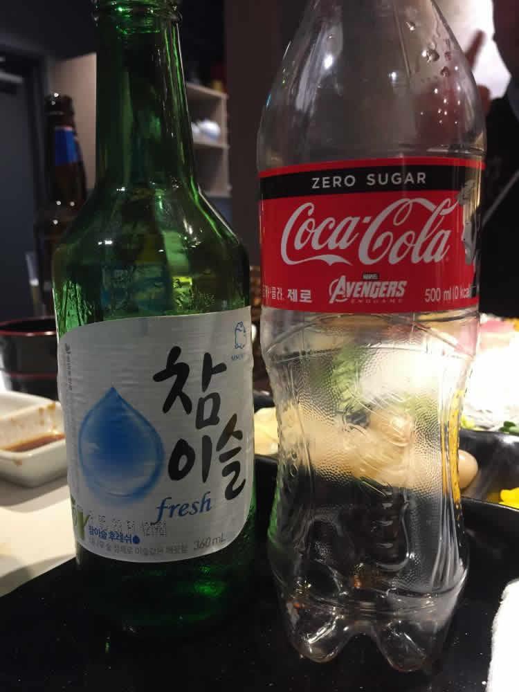 diabetes blood sugar test before and after eating Korean food Japanese food tuna sashimi 참치회 soju coke zero