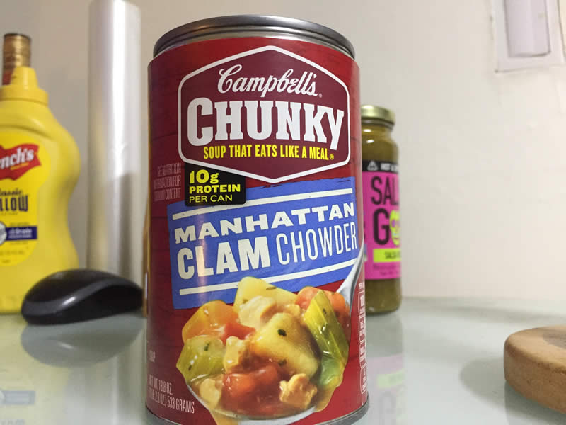 diabetes campbell's soup manhattan clam chowder
