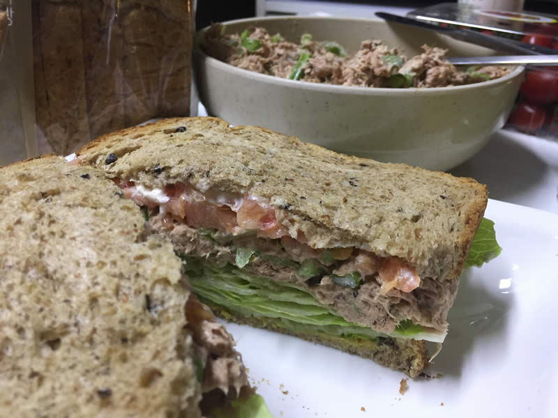 diabetes wheat bread tuna salad
