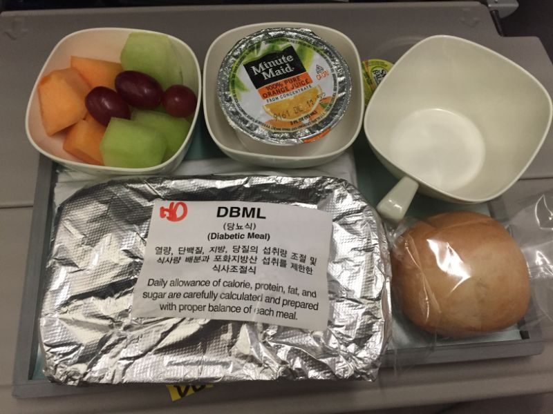 airline diabetic meal korean air