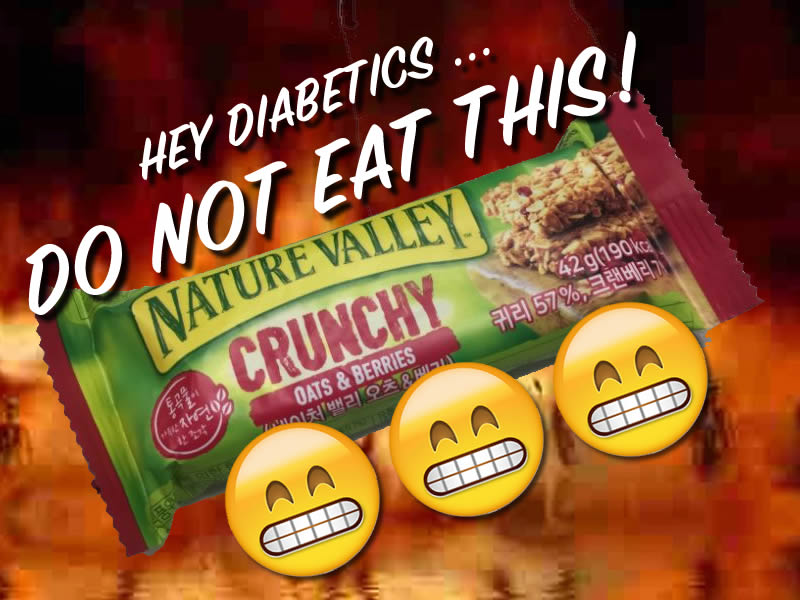 diabetes granola bar bad