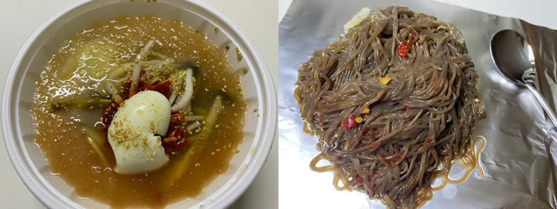 diabetes blood sugar test korean food naeng myeon buckwheat noodles 냉면
