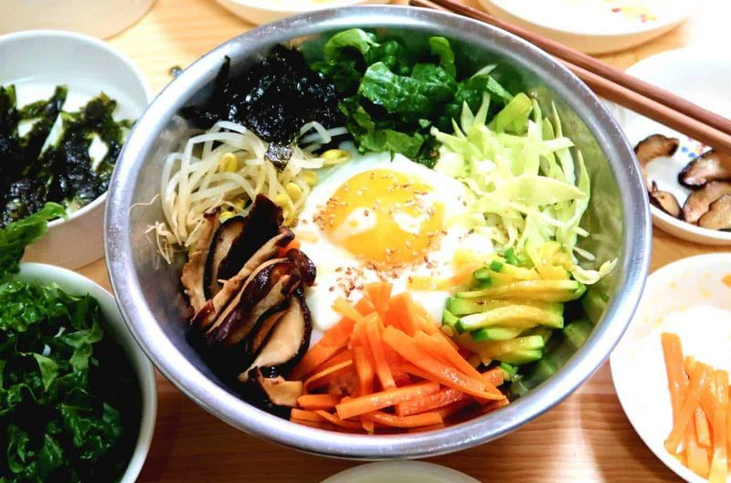 diabetes korean salad bibimbap