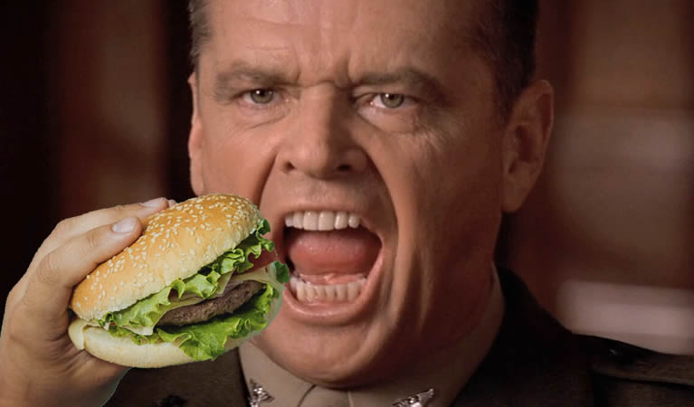 diabetes cheeseburger a few good men nathan jessup
